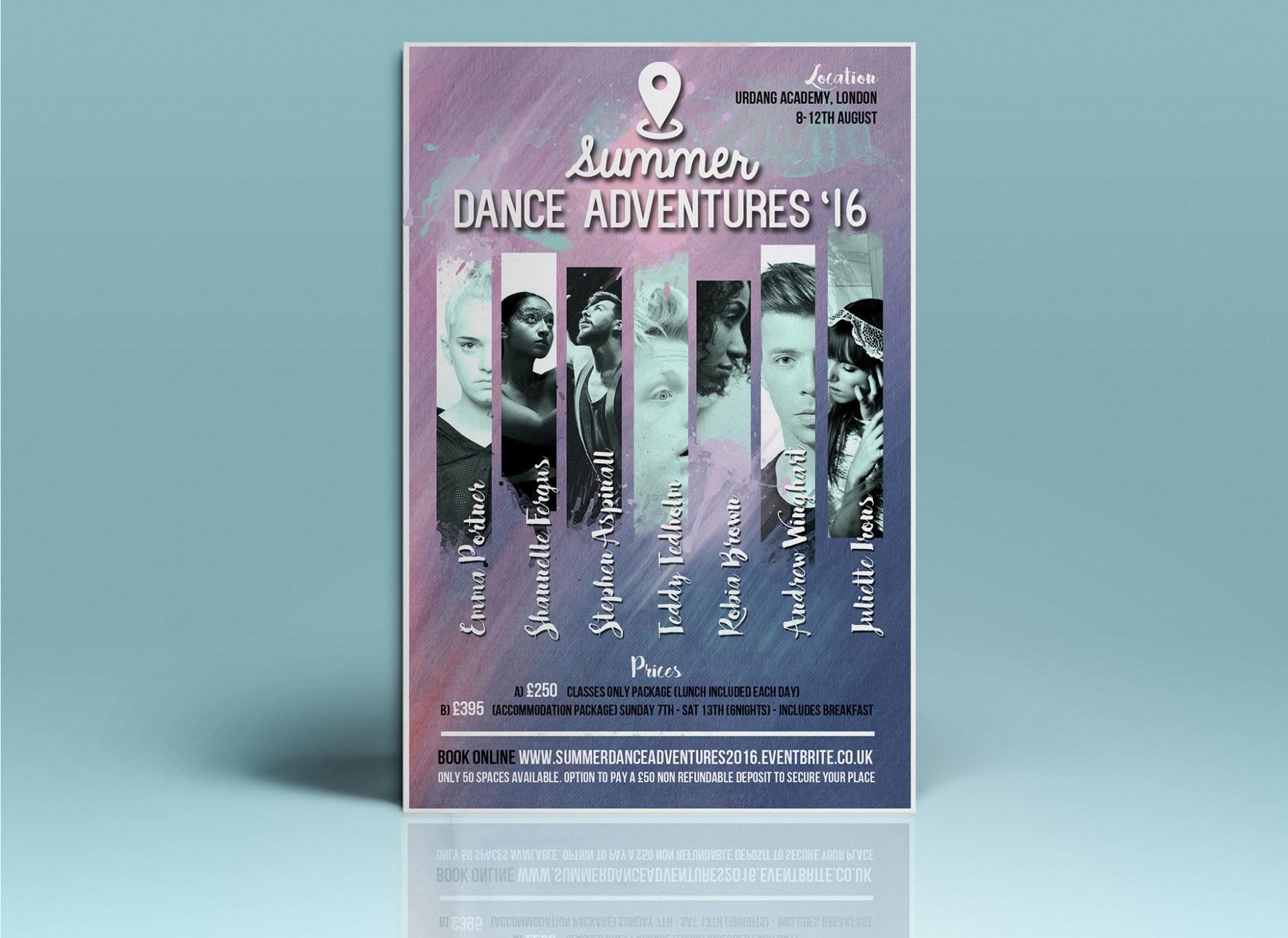 poster design dance workshop